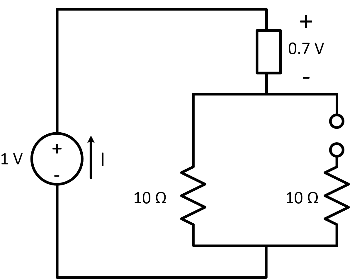 Current In A Diode Circuit With Diodes Replace The Generic Element And An Open