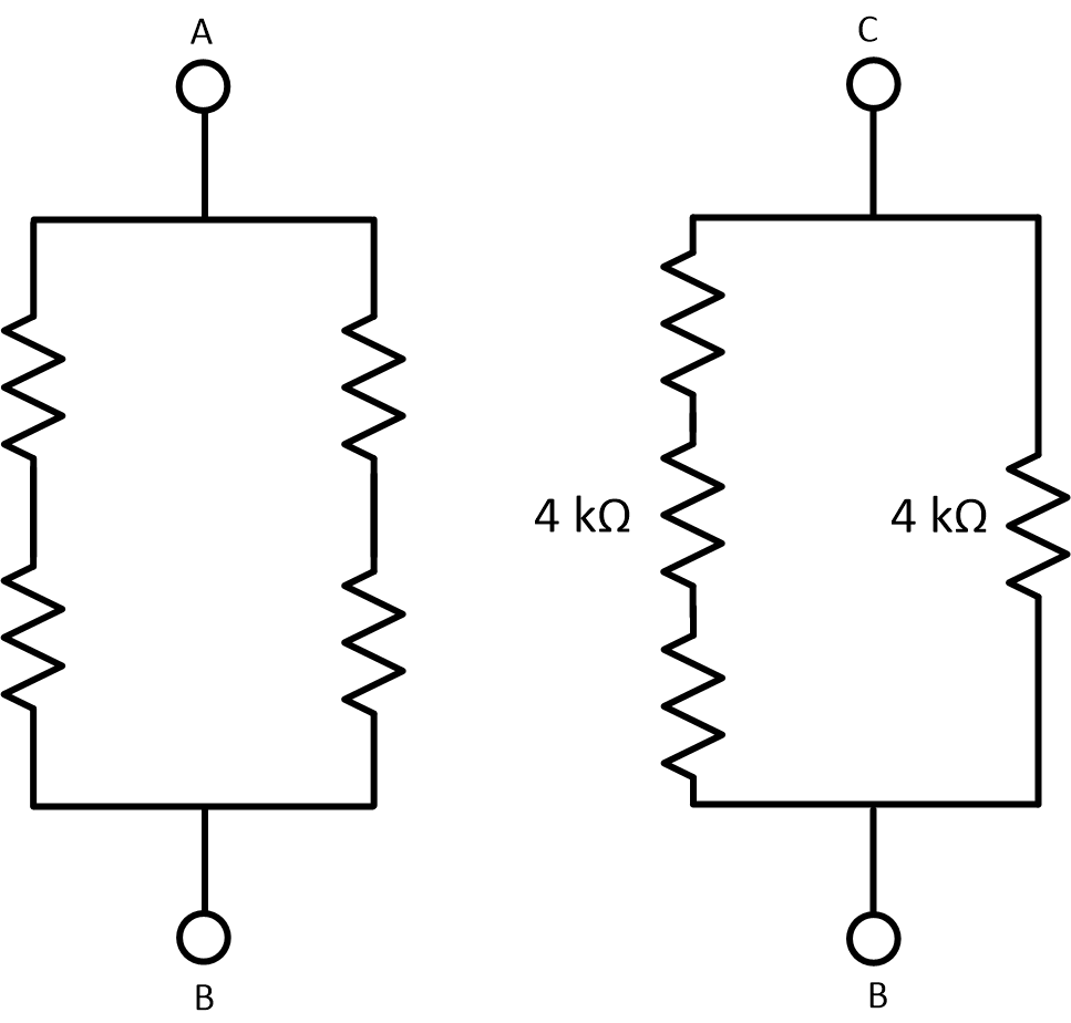 Equivalent Resistance Between Terminals Find In This Circuit 967x924px