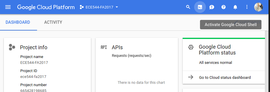 Google Cloud Platform Guide | ECE544NA Fall 2017